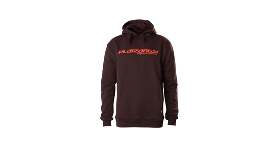 Platzangst Hoody Close men Logo braun
